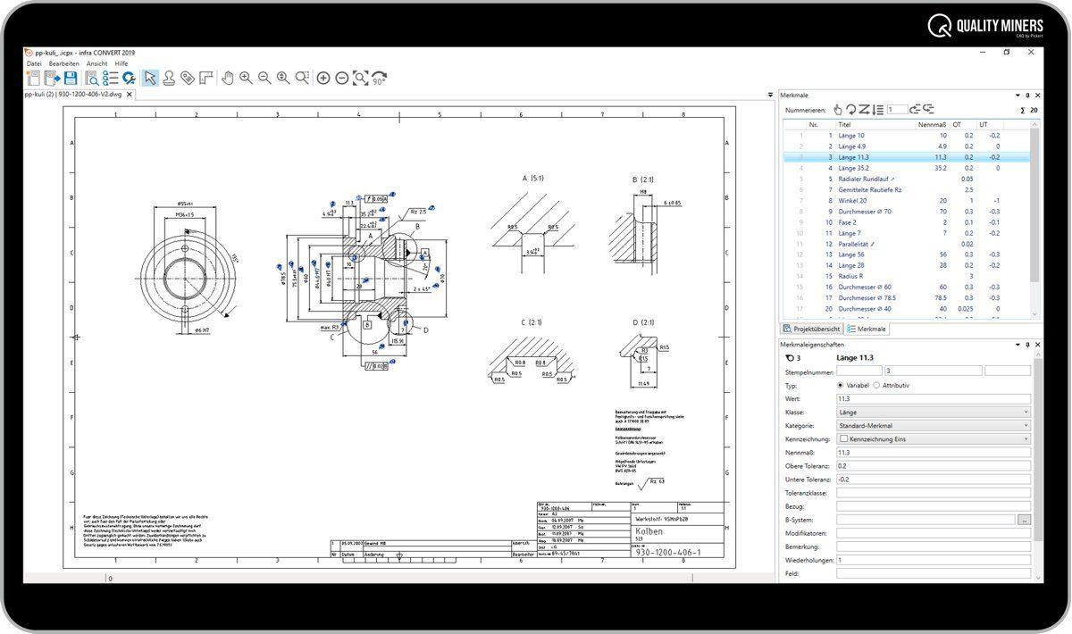 Software Stempelung von CAD-Zeichnungen